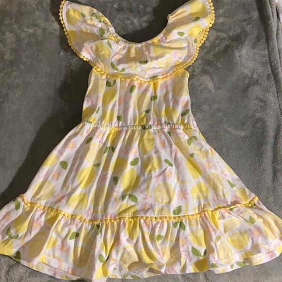 Toddler girl lemon dress size 4T